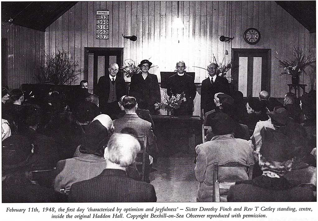 Historic photo of the inside of Sidley Baptist Church, now known as Freedom Church Bexhill